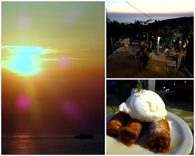 Sunset at Lefkatas and Baklava