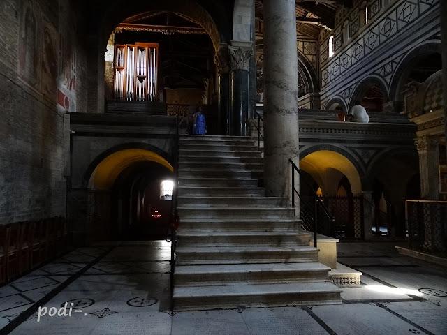 Florencia, San Miniato, escalera