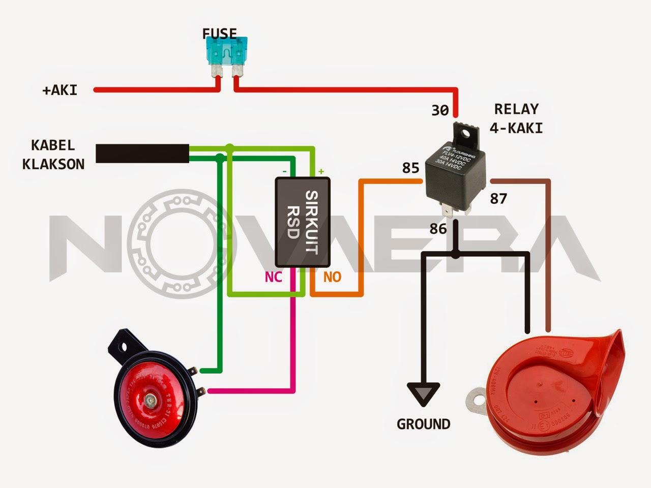 rangkaian klakson dengan relay | Seputar Info Tentang Otomotif