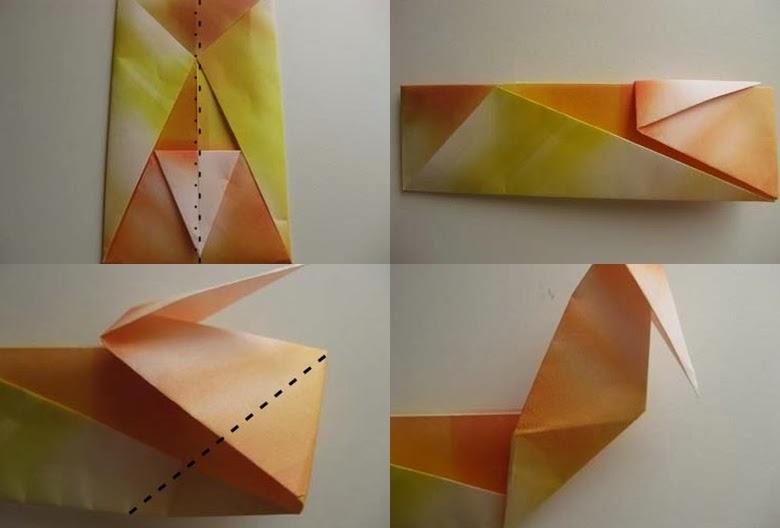 Origami Ördek Yapımı Resimli Anlatım 2