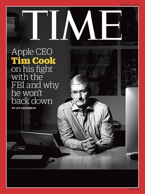 Tim Cook é capa da TIME sobre Apple vs FBI: 'É muito mais sobre o futuro'