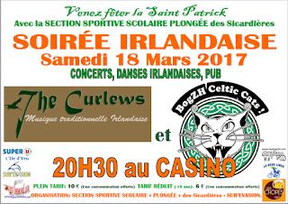 Musique traditionnelle irlandais et rock 'n' roll celtic punk-folk pour la fête de la Saint-Patrick