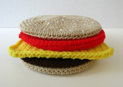 Cheeseburger Potholder Crochet Tutorial