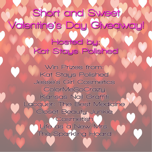 VDAY 2014 GIVEAWAY from Kat Stays Polished
