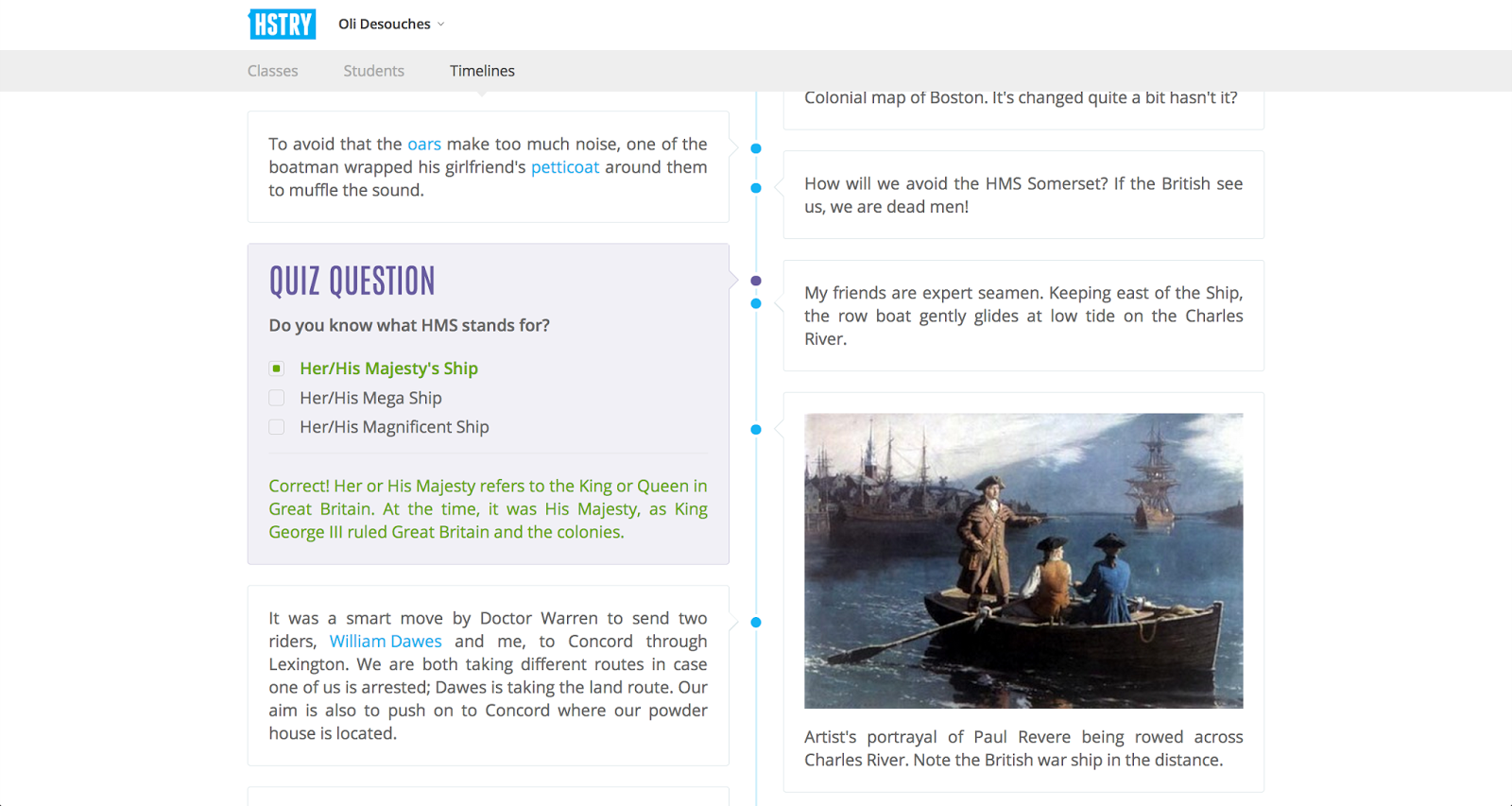 hstry is a multimedia timeline creation tool that will work on your laptop chromebook ipad or tablet