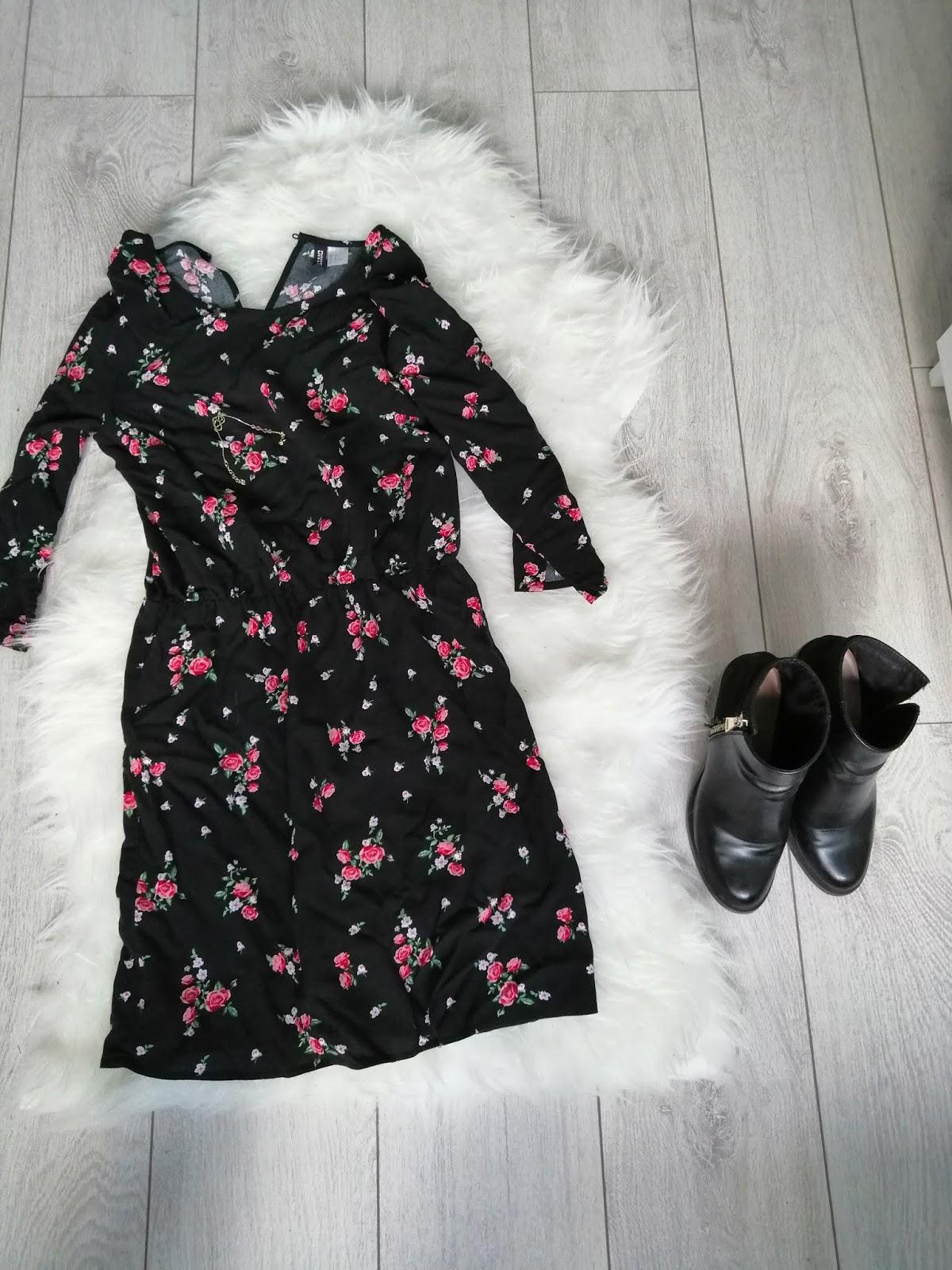 9bafc3a11d Jesienna sukienka w kwiaty - Womanhood Duty