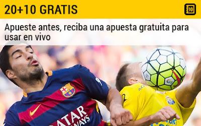 bwin te espera apuesta gratuita 10 euros Las Palmas vs Barcelona 20 febrero