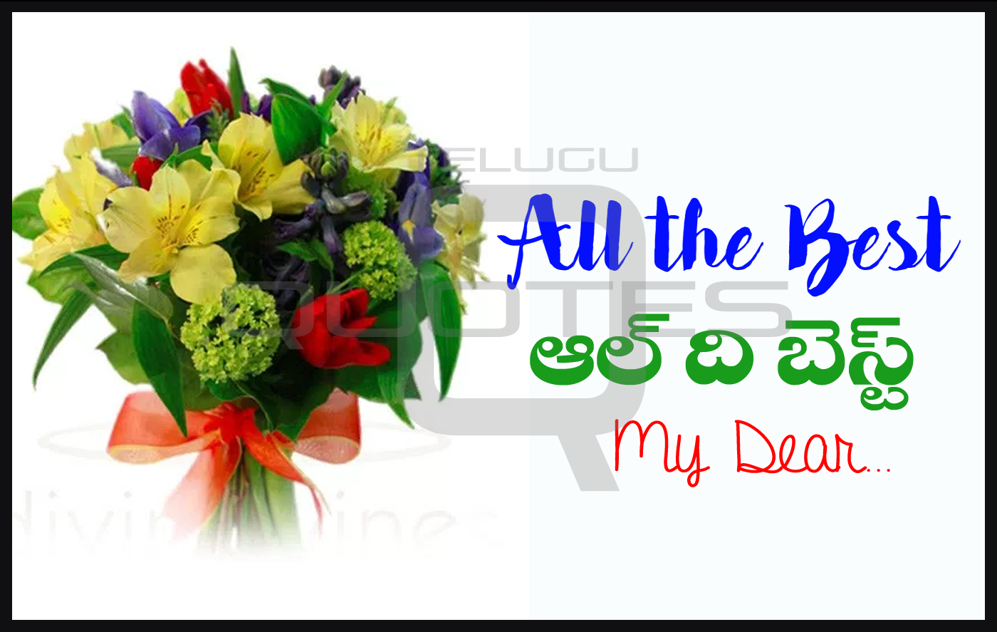 All The Best Wishes Images Telugu Quotes Pictures Best Wishes