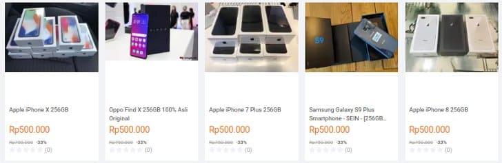 hp iphone black market penjual penipu