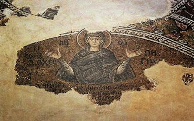 Η εικόνα της Ζωοδόχου Πηγής ψηφιδωτό στο Μπαλουκλί, Παναγία η Μπαλουκλιώτισσα στην Κωνσταντινούπολη, σώζεται στον εσωνάρθηκα της Μονής της Χώρας.