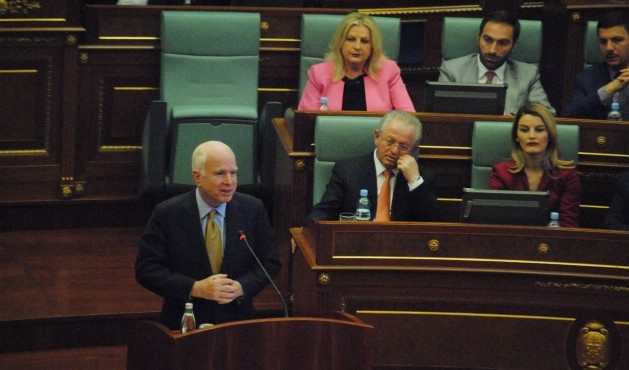 John McCain will be forever a hero for Kosovo