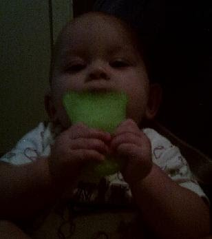 Baby Teething Toy - Green Foot Munchkin Fun Ice Chewy Teether