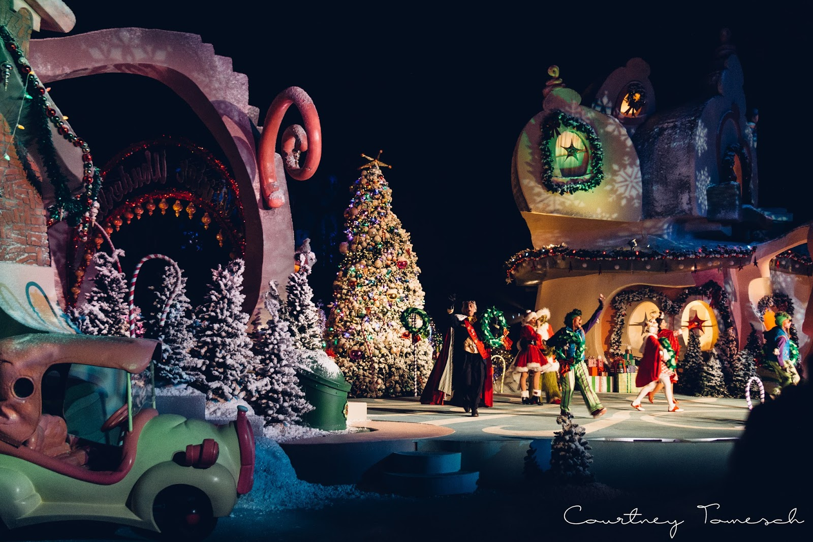 Courtney Tomesch Universal Studios Hollywood Grinchmas
