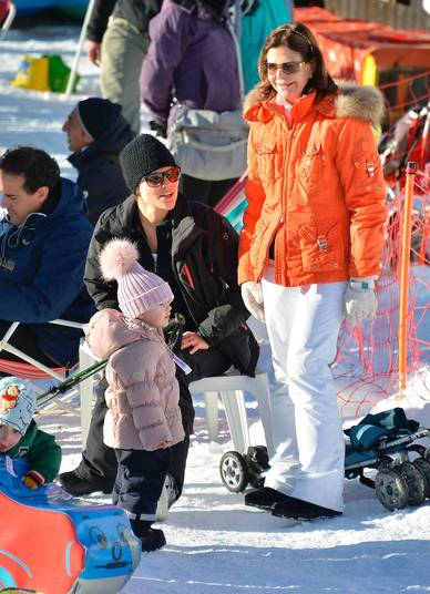Queen Silvia, Crown Princess Victoria, Prince Daniel and Princess Estelle