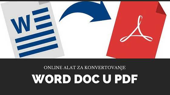 Prebacivanje Word dokumenta u PDF