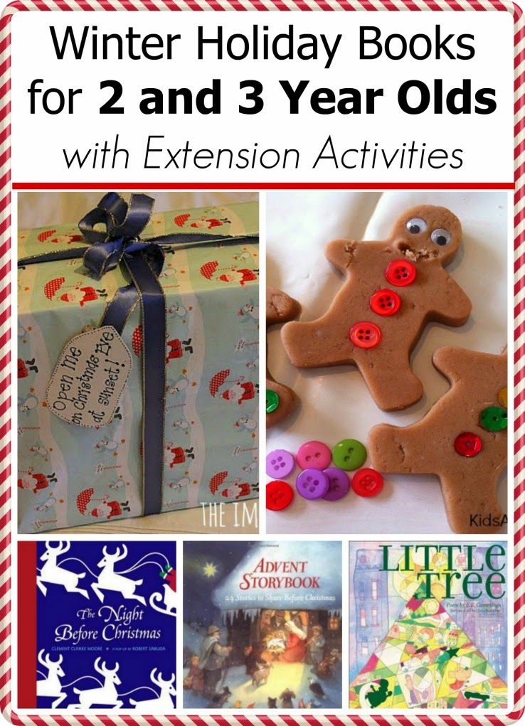 Winter Holiday Books for 2 and 3 year olds with extension activities