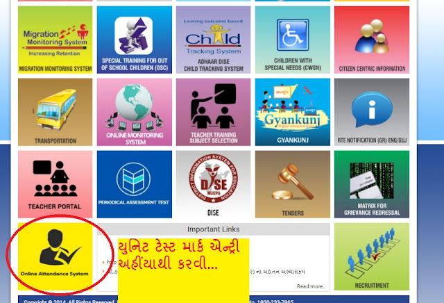 Unit Test mark Entry : Periodical Assessment Test Mark Entry Direct Link @ ssagujarat.org