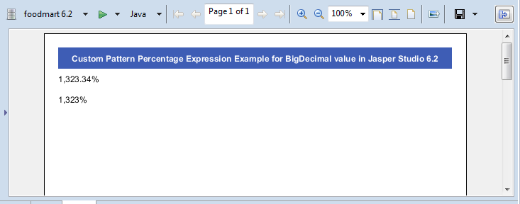 Tip : Custom Pattern Expression example for Percentage type
