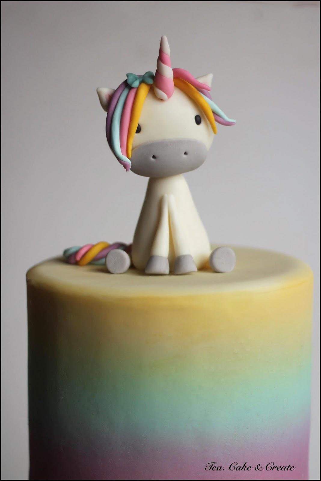 Tea Cake Amp Create Rainbow Unicorn Birthday Cake