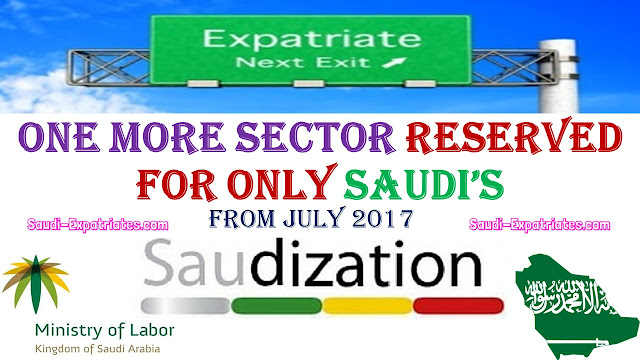 ONE MORE SECTOR RESERVED IN SAUDIZATION