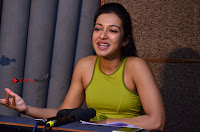 Actress Catherine Tresa Pos during Self Dubbing for Gautham Nanda Movie  0003.JPG