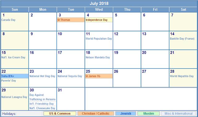 July 2018 Calendar, July 2018 Printable Calendar, July 2018 Blank Calendar, July 2018 Calendar Printable, July 2018 Calendar Template, July 2018 Calendar Holidays, July 2018 Calendar PDF, 2018 July Calendar Printable, Calendar July 2018
