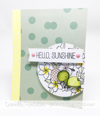 Hello Sunshine | My Favorite Things | Card created by Danielle Pandeline