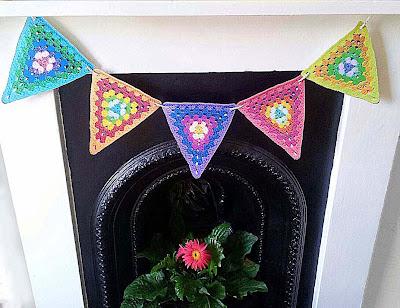 crochet bunting printable,printable granny bunting,free crochet printable,free printable