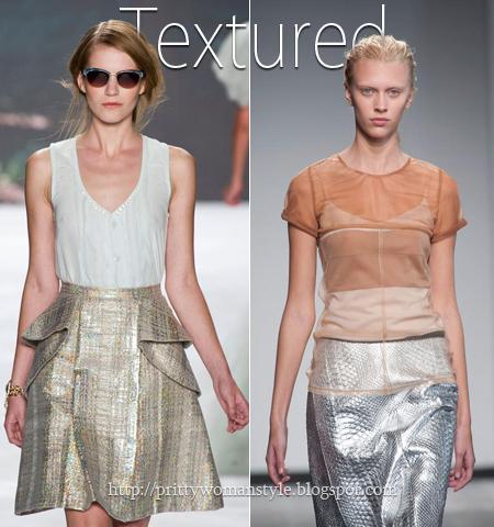 Текстурирано метално пролет-лято 2013