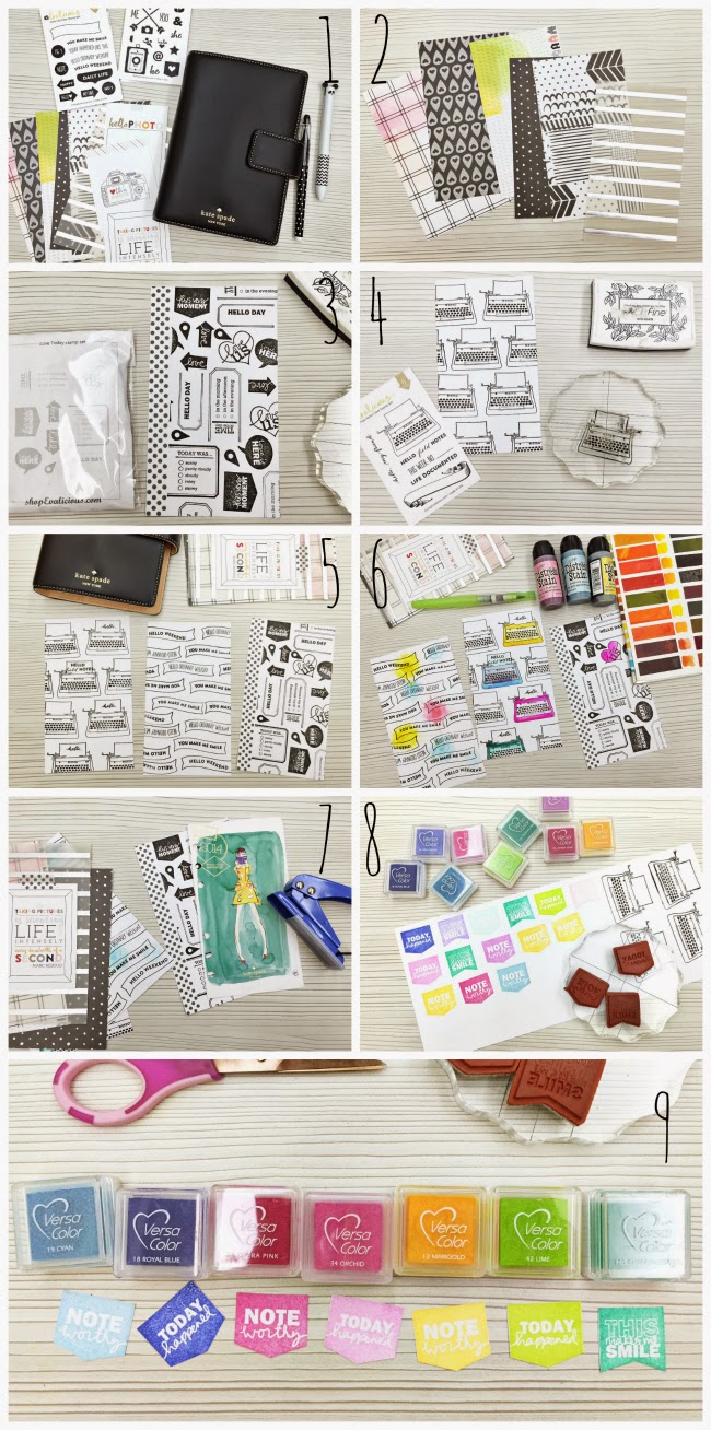 happiness is scrappy planners how to make your own rainbow divider