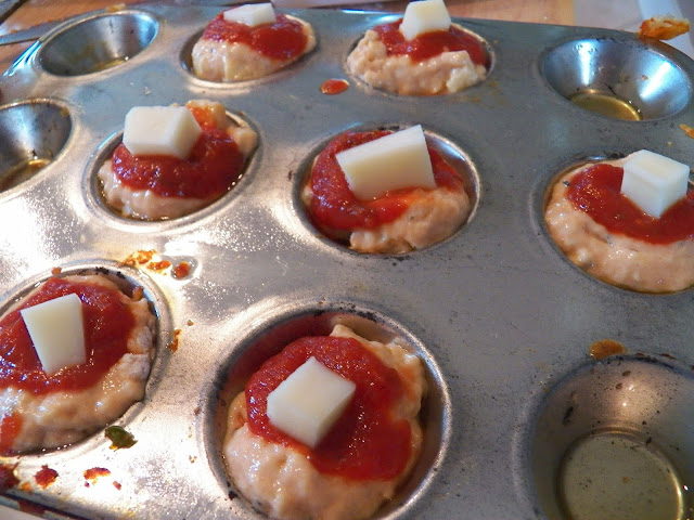 Mini Pizza Muffins with cheese