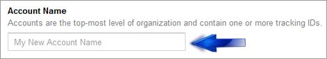 analytics account name
