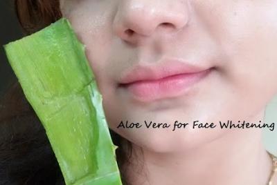 cara memutihkan wajah dengan lidah buaya