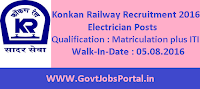Konkan Railway Recruitment 2016