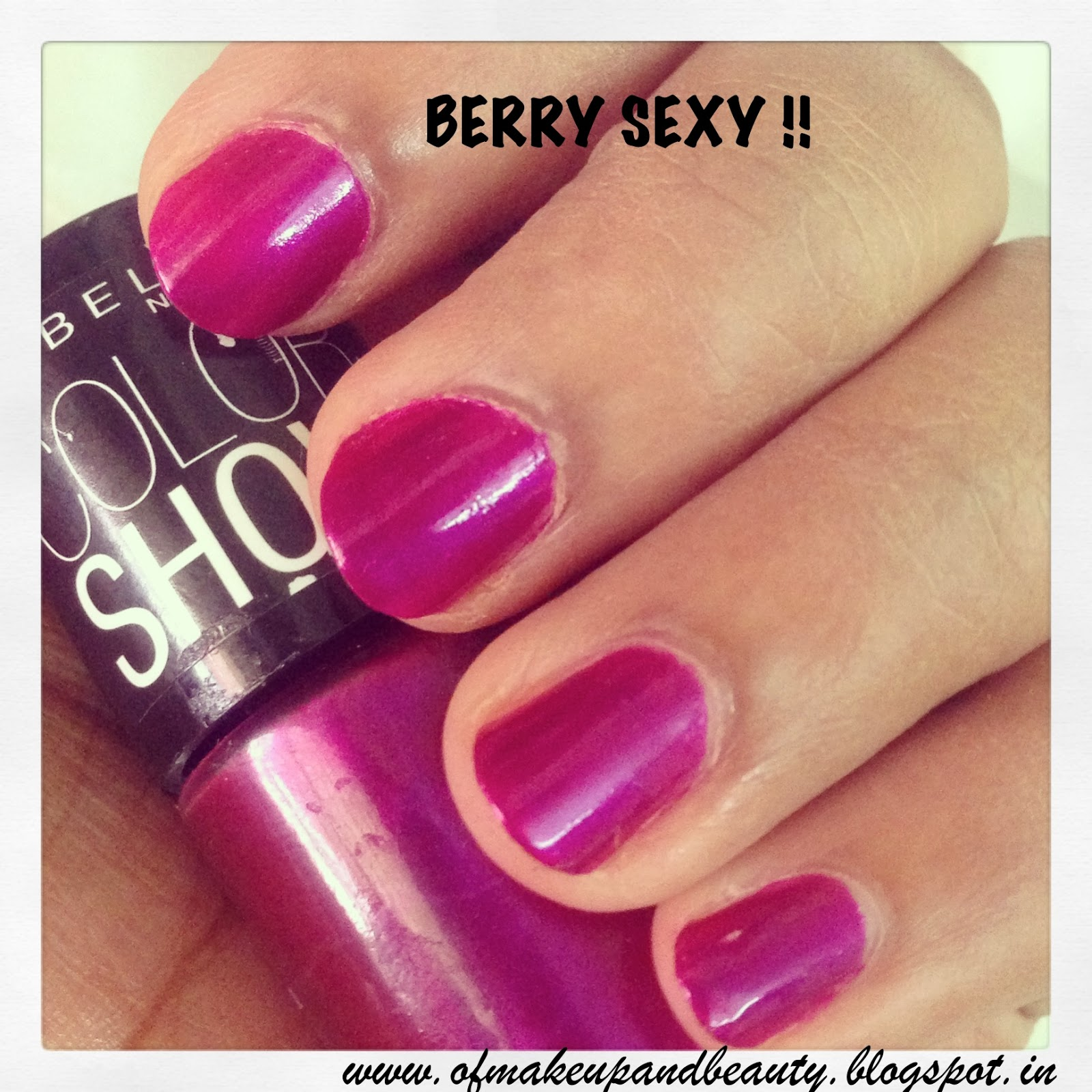 Maybelline Color Show Nail Polish Berry Sexy Review And Notd