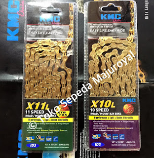 Rantai KMC Gold 10 Speed dan 11 Speed