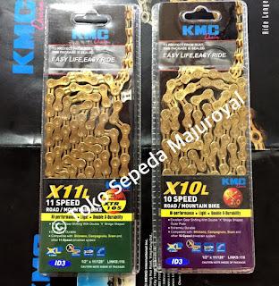 Rantai KMC Gold 10 Speed dan 11 Speed