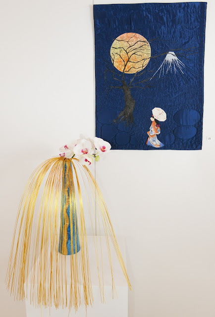 Art Quilt and Ikebana - Daisy Moret (Quilt) and Liselotte Bamert (Ikebana)