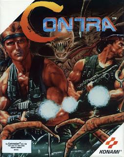 Carátula de Contra para el Commodore 64 de 1988