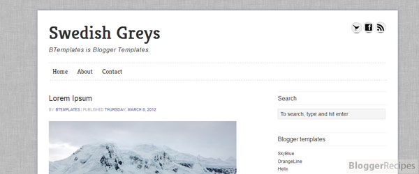 Swedish Greys Blogger Template