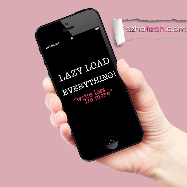 Tutorial : Ringankan Blog dengan Lazyload Image Script