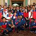 Danilo Medina entrega Bandera Nacional a atletas que participarán en Juegos Centroamericanos y del Caribe de Barranquilla, Colombia.
