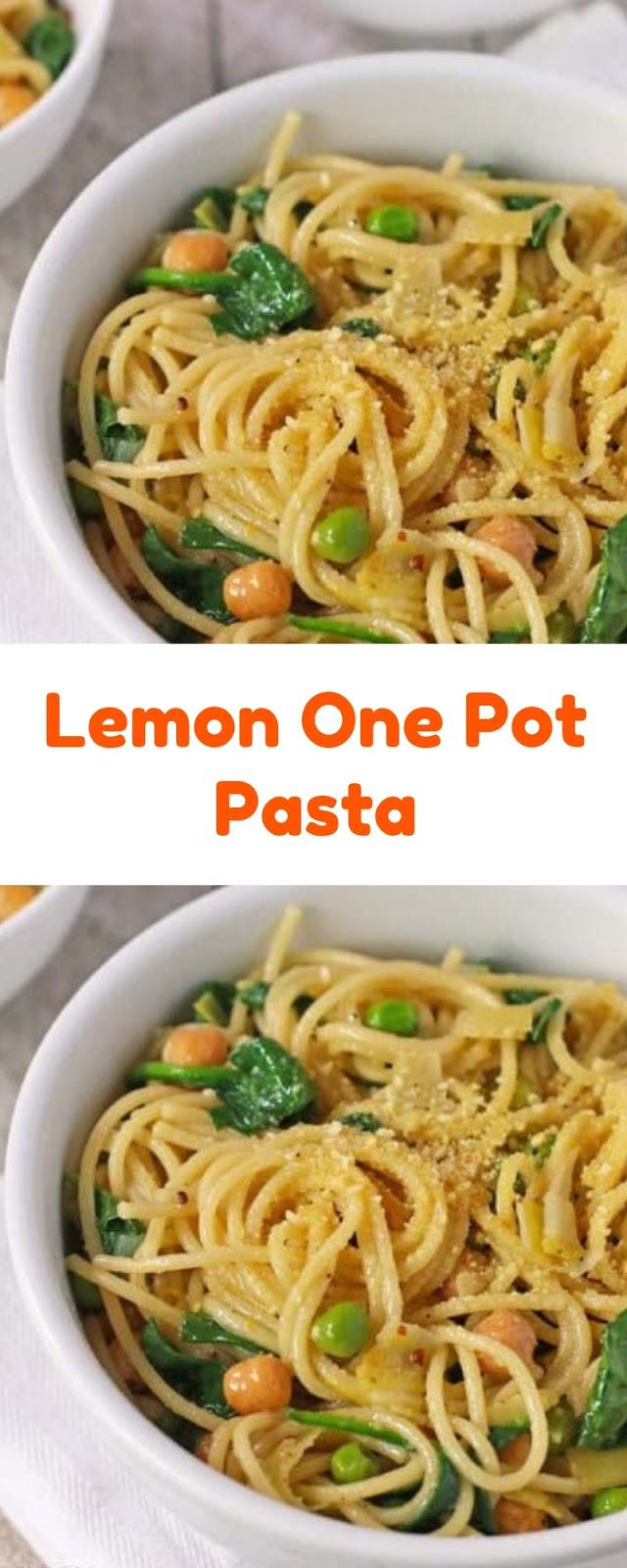 The Best Lemon One Pot Pasta Recipe
