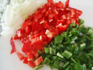 hortalizas troceadas para cocinar quinoa