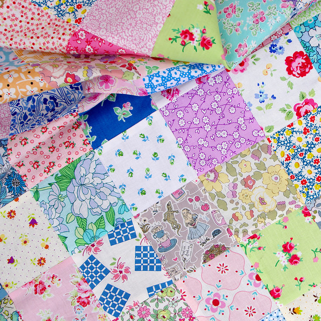 Pretty Patches - Liberty of London Tana Lawn ~ Alice in Wonderland (Spring/Summer 2015) | Red Pepper Quilts