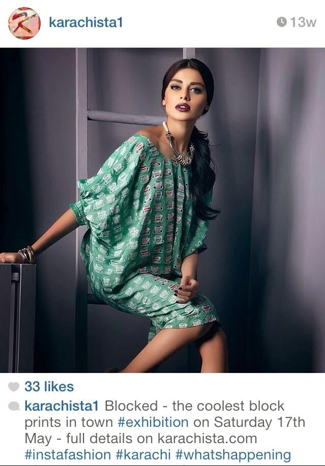 Karachi designer clothes Exhibition- Karachista  -  Pakistan Instagram Accounts