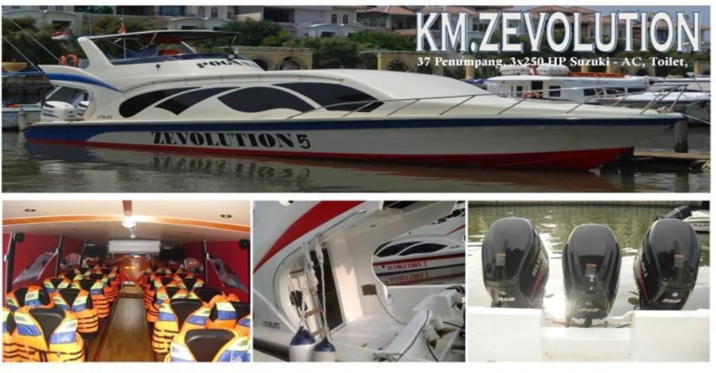 harga sewa kapal speedboat zevolution
