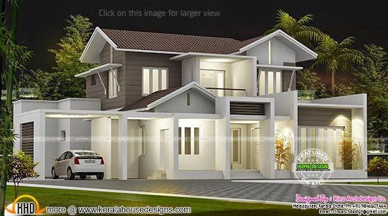 204 Sq M Beautiful Kerala Home Kerala Home Design And