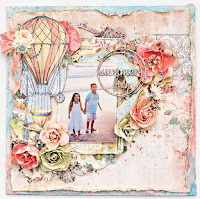 Shabby Chic Summer layout on canvas video tutorial.