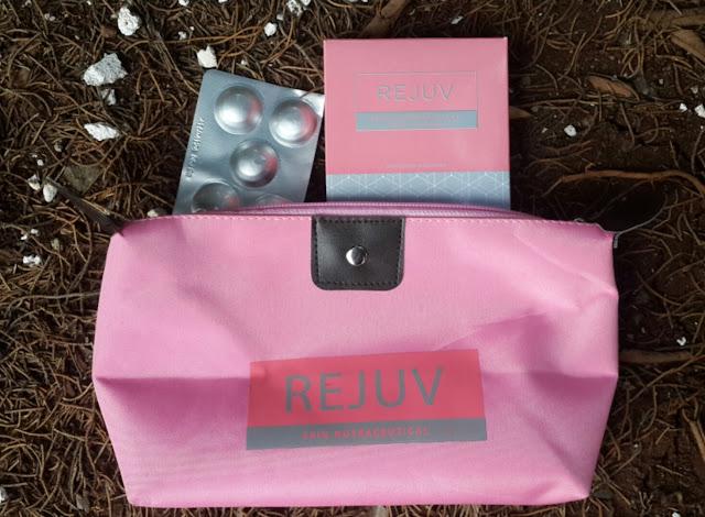"""REJUV merupakan suplemen makanan untuk kecantikan kulit dari dalam dengan revolusi terbaru """"photo protection"""" yang kaya akan phytoene & phytofluene yang bersumber dari tomat dan dipatenkan dengan nama Phytofloral yang mana bermanfaat dalam menjaga kesehatan kulit secara menyeluruh."""